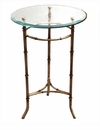 Dessau Home Antique Silver With  Beveled Glass Table Home Decor