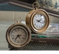 Dessau Home Antiqued Brass Round Face Alarm Clock Home Decor