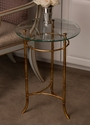 Dessau Home Antiqued Gold Bamboo Side Table Home Decor