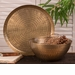 Dessau Home Antiqued Hammered Brass Rice Bowl Home Decor