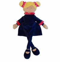 Applesauce Penelope Navy Blue French Style Plush Doll