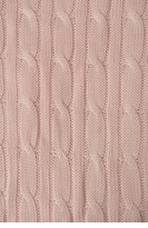 Applesauce Pink Cable Knit Baby Blanket