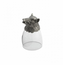 Arte Italica Animale Boar Liqueur Glass