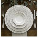 Arte Italica Finezza Cream Four Piece Dinnerware Place Setting