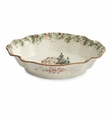 Arte Italica Natale Casa Scalloped Oval Bowl