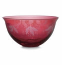 Arte Italica Natale Glass Serving Bowl