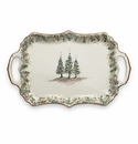 Arte Italica Natale Rectangular Tray with Handles