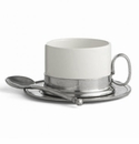 Arte Italica Tuscan (Caffe) Cappuccino Cup, Saucer, Spoon Set