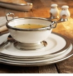 Arte Italica Tuscan Dinnerware with Pewter Accents