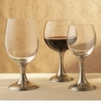 Arte Italica Verona Glassware with Pewter Stems