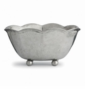 Arte Italica Vintage Pewter (Cypress) Scalloped Planter