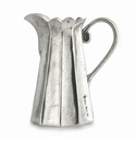 Arte Italica Vintage Pewter Tall Scalloped Pitcher
