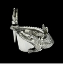 Arthur Court Alligator Wine Caddy Stopper Set