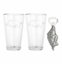 Arthur Court Arkansas Pub Glass / Opener Set