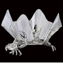 "Arthur Court Crab Stand With 14"" Acrylic Bowl"