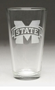 Arthur Court Designs Mississippi State Pub Glass