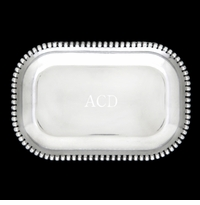 Arthur Court Engravable Beaded Catch All Tray