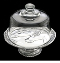 "Arthur Court Horse 8"" Footed Plate With Glass Dome"