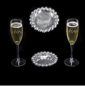 Arthur Court Mr & Mrs Champagne Set  of 3