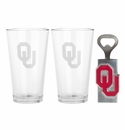 Arthur Court Oklahoma Pub Glass / Opener Set