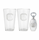 Arthur Court South Carolina Pub Glass / Opener Set