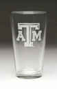 Arthur Court Texas A&M Pub Glasses Set of 4