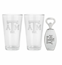 Arthur Court Texas A&M Pub Glass / Opener Set