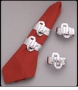 Arthur Court University of Oklahoma Napkin Rings (Set of 4)