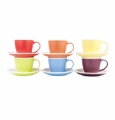 Ashdene Bone China Cup & Saucer - 6 Assorted Colors