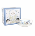 Ashdene Bone China Teacup & Saucer Plume & Perch