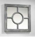 Ashford Gray Wood Wall Mirror by Cyan Design