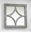 Ashton Distressed Gray Wood Mirror by Cyan Design