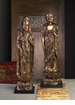 Asian Female Antique Gold Figurine Home Decor