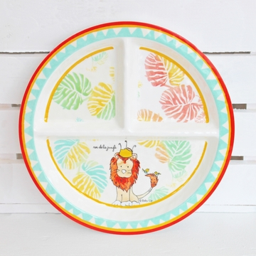 Baby Cie King Of The Jungle Round Sectioned Plate