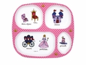 Baby Cie Princess Melamine Child's TV Tray Dinner Plate