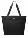 Baggallini Black Carryall Tote Bag With Sand Lining