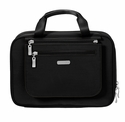 Baggallini Black Deluxe Travel Cosmetic Bag With Sand Lining