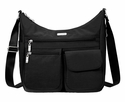 Baggallini Black Everywhere Crossbody Bag with RFID Shield and Sand Lining