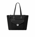 Baggallini Black Fairfax Laptop Tote With RFID