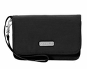 Baggallini Black Flap Wristlet Wallet with RFID Shield  With Sand Lining