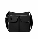 Baggallini Black Hillcrest Hobo With RFID