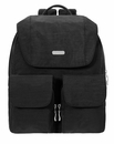 Baggallini Black Mission Backpack With Sand Lining