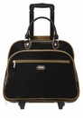 Baggallini Black Rolling Tote With Sand Lining