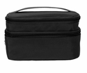 Baggallini Black Small Train Case Cosmetic Bag With Sand Lining