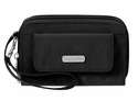 Baggallini Black Wristlet Wallet with RFID Shield  With Sand Lining
