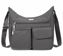 Baggallini Charcoal Everywhere Crossbody Bag with RFID Shield