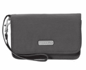 Baggallini Charcoal Flap Wristlet Wallet with RFID Shield