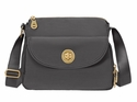 Baggallini Charcoal Gold Provence Crossbody Bag