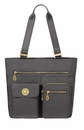 Baggallini Charcoal Gold Tulum Tote Bag