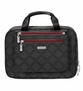 Baggallini Charcoal Link Deluxe Travel Cosmetic Bag
